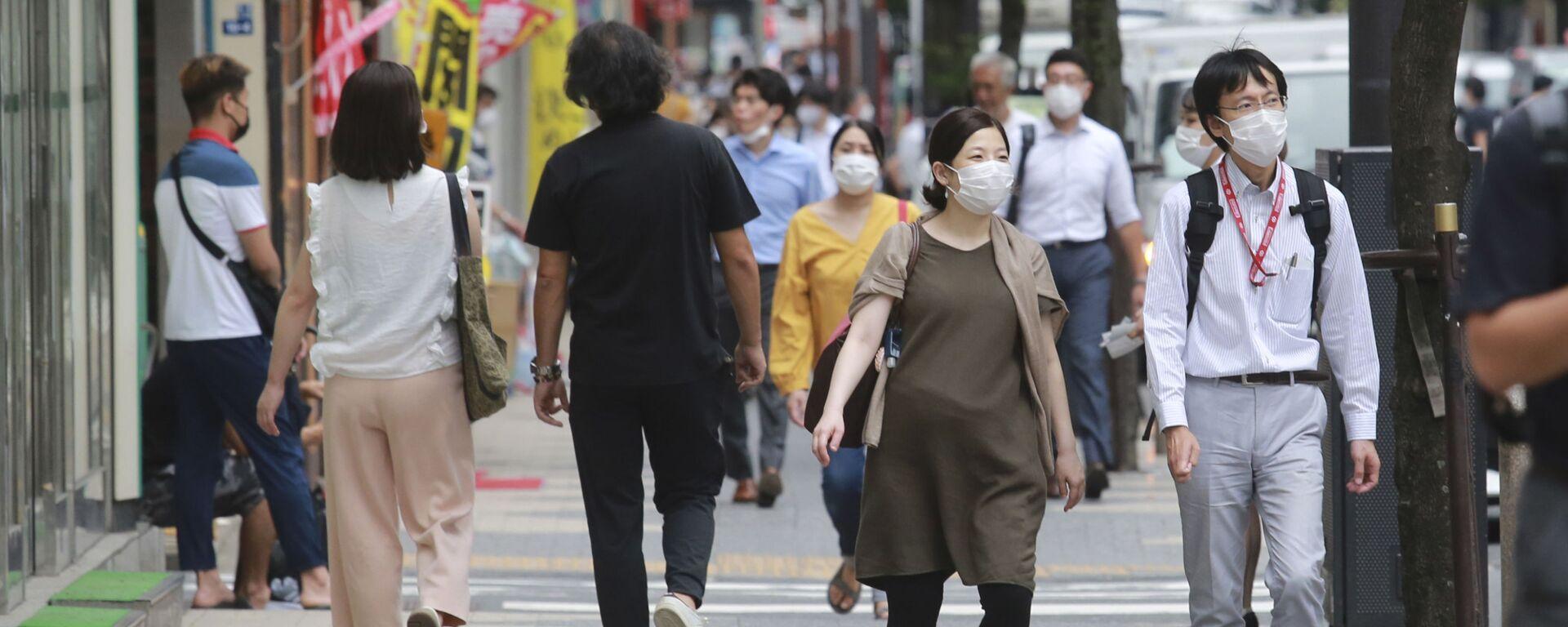 東京 マスクをつけた人 - Sputnik 日本, 1920, 08.09.2021