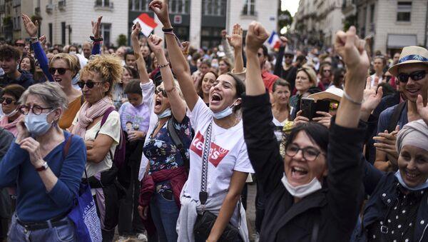 ブリュッセルで欧州全体としてのコロナ規制抗議デモ - Sputnik 日本