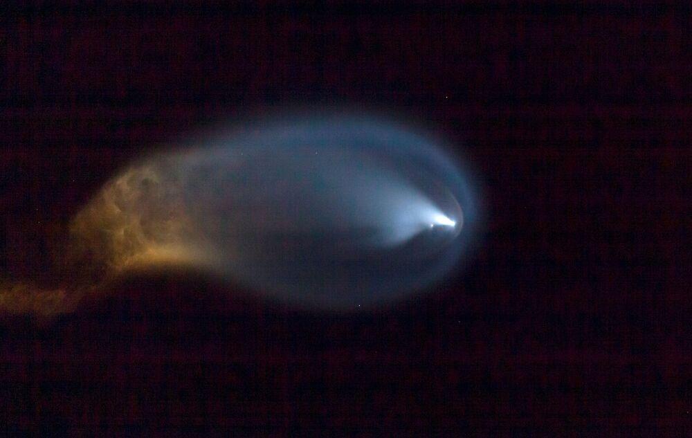 スペースXの「ファルコン9」ロケットの打ち上げ、米フロリダ州ケープカナベラル
