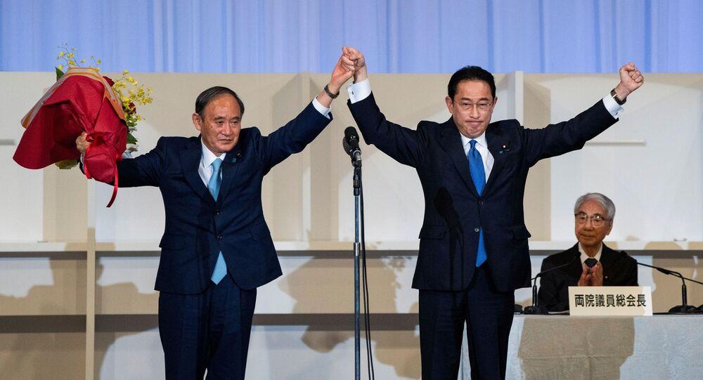 日本 自民党の岸田新総裁、外交政策を実施する上での「覚悟」について述べる