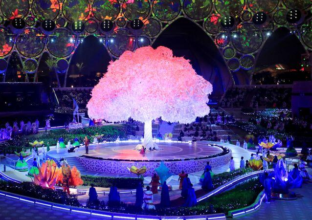 アラブ首長国連邦(UAE)・ドバイで開幕した万博のオープニングセレモニー