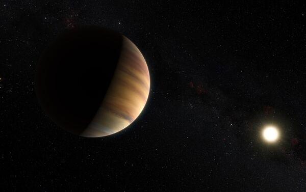 欧州南天天文台が公開した太陽系外惑星「ペガスス座51番星b」のイメージ画像(2015年4月20日)。系外惑星の初の例となった - Sputnik 日本