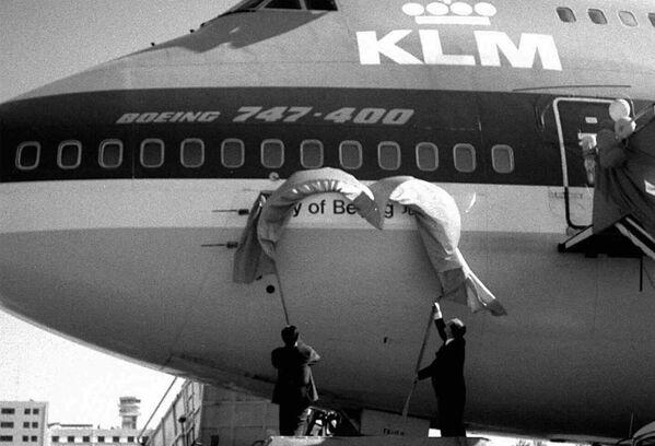 中国・北京の国際空港で行われたボーイング747-400型機の除幕式(1996年6月30日) - Sputnik 日本
