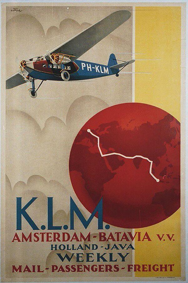 KLMオランダ航空の広告ポスター - Sputnik 日本