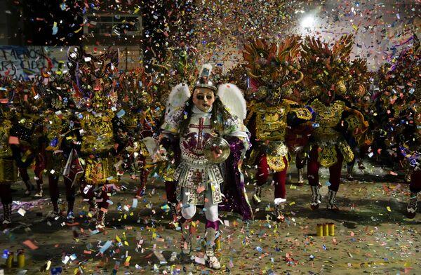 ボリビア・オルロで「ディアブラーダ(悪魔の踊り)」を踊る住民 - Sputnik 日本