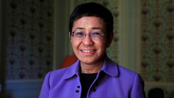 米国フィリピン系米国人ジャーナリストのマリア・レッサ - Sputnik 日本