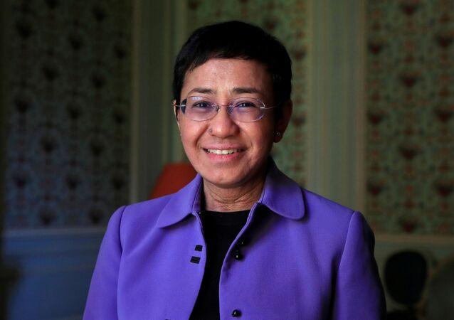 米国フィリピン系米国人ジャーナリストのマリア・レッサ