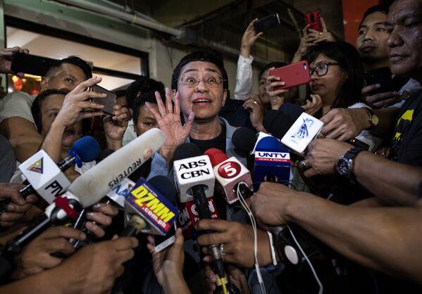 ノーベル平和賞を受賞したフィリピンのジャーナリスト、マリア・レッサ氏(2019年、フィリピン・マニラにて) - Sputnik 日本