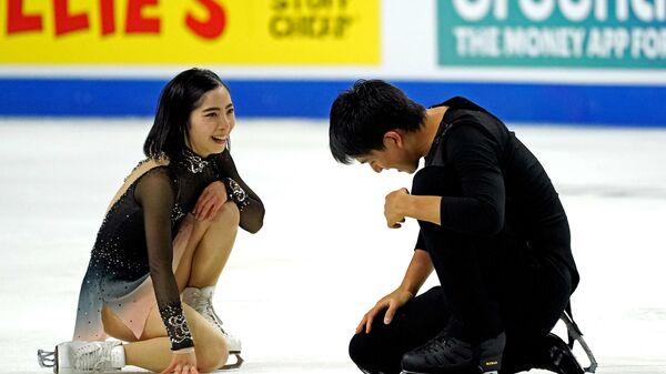 Японские фигуристы Рику Миюра и Рюити Кихара на турнире Skate America - Sputnik 日本