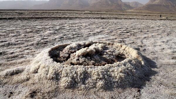 Кристаллизованные минералы высохшего морского участка южной части Мертвого моря - Sputnik 日本