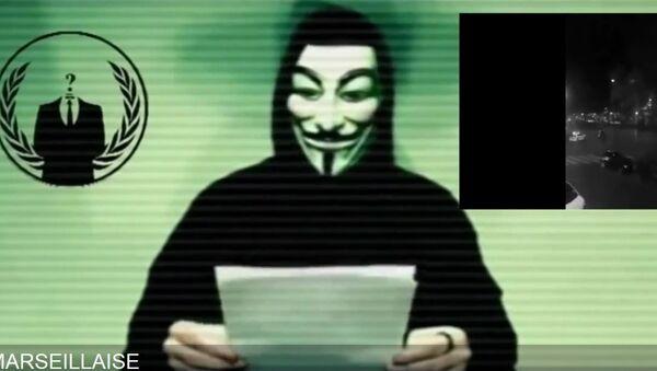 Anonymous répond aux attentats de Paris ! 13 novembre 2015 - Sputnik 日本