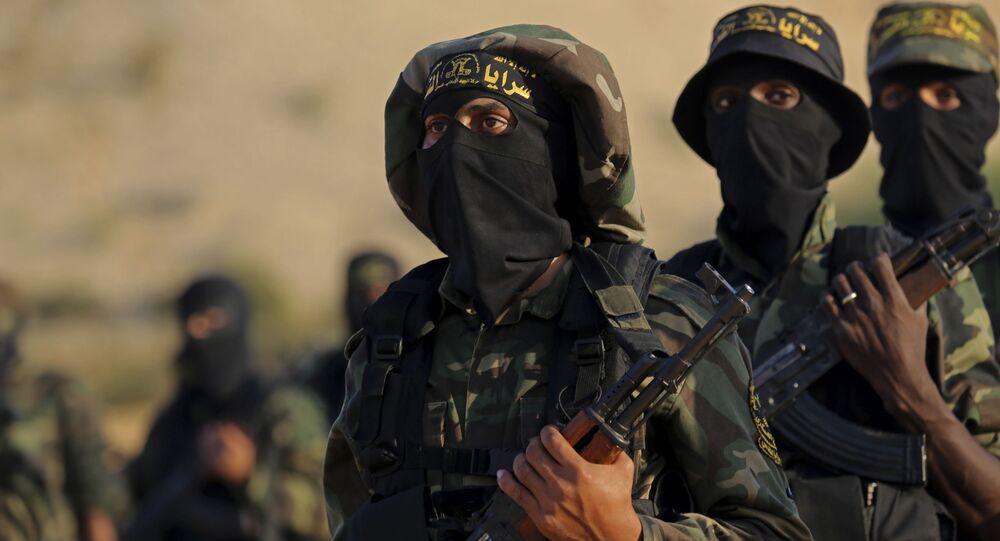 パレスチナで活動する「イスラーム聖戦」のメンバー