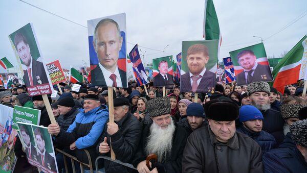 チェチェンでロシアとの一体性を支持する100万人集会開催 - Sputnik 日本