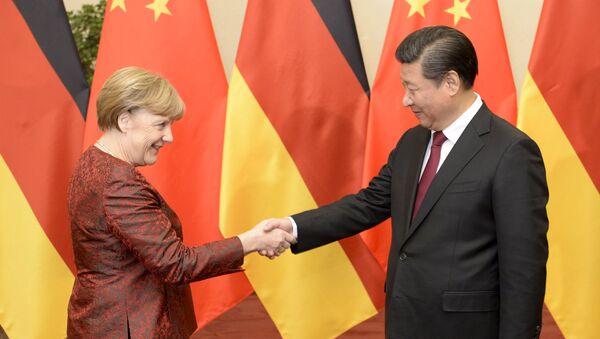 メルケル独首相と中国習国家主席 2015年 - Sputnik 日本