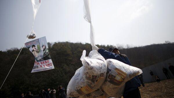 韓国、北朝鮮にビラ8万枚をまく - Sputnik 日本
