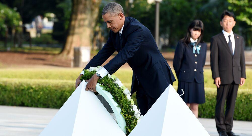 オバマ大統領 広島の平和記念公園で献花
