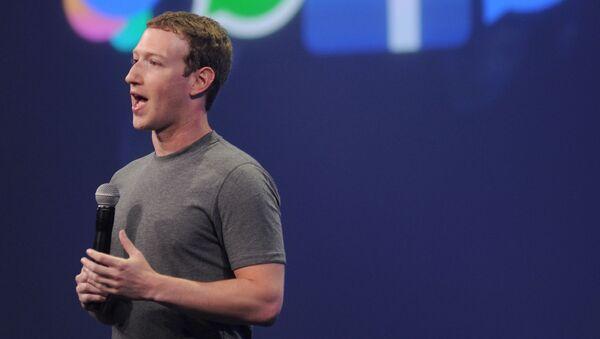 米フェイスブックのザッカーバーグ最高経営責任者(CEO) - Sputnik 日本