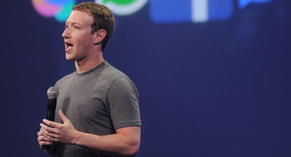 米フェイスブックのザッカーバーグ最高経営責任者(CEO)