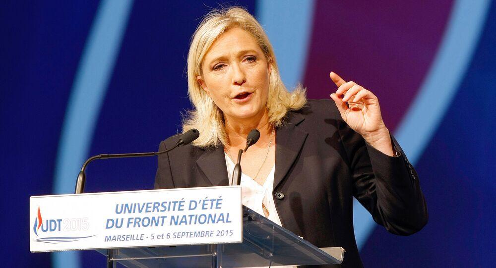 フランスの右派政党「国民戦線」党首、マリー・ルペン氏