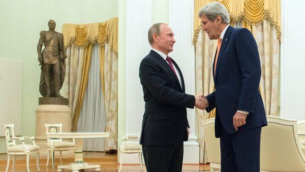 プーチン大統領とケリー米国務長官、テロリストへの圧力強化は絶対 - Sputnik 日本