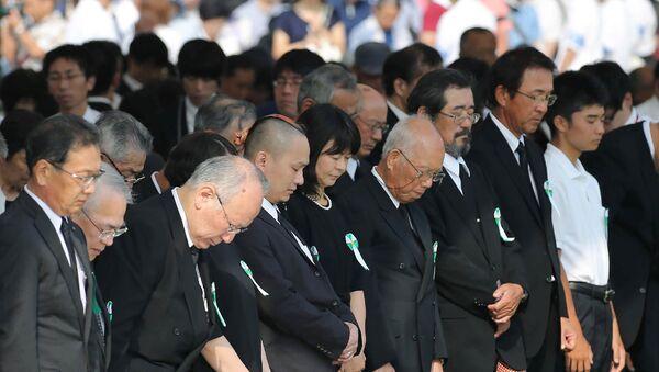 Мероприяти  в память о жертвах атомной бомбардировки 1945 года в Мемориальном парке мира в Хиросиме - Sputnik 日本
