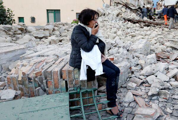 家を失ったイタリアのアマトリーチェの住民。 - Sputnik 日本