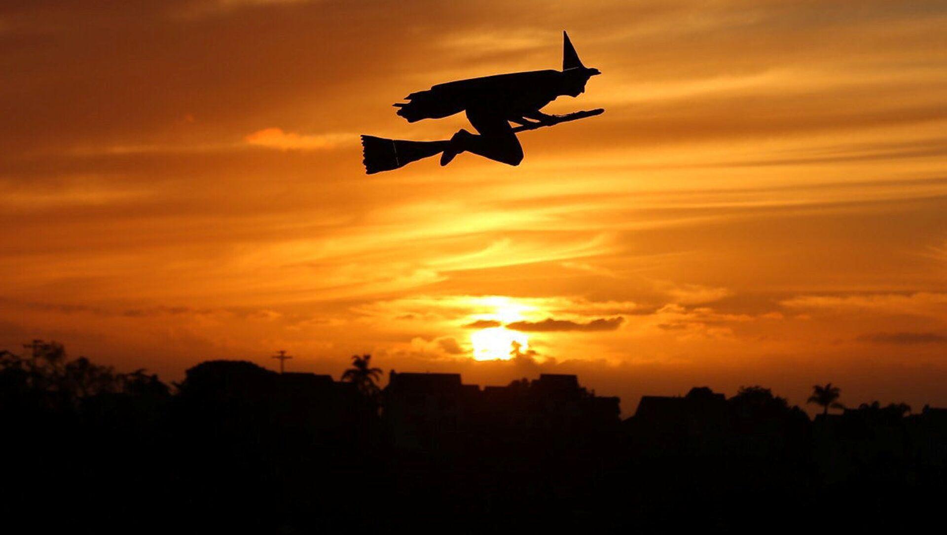 Самолет на радиоуправлении в виде ведьмы на закате в Калифорнии - Sputnik 日本, 1920, 29.09.2021