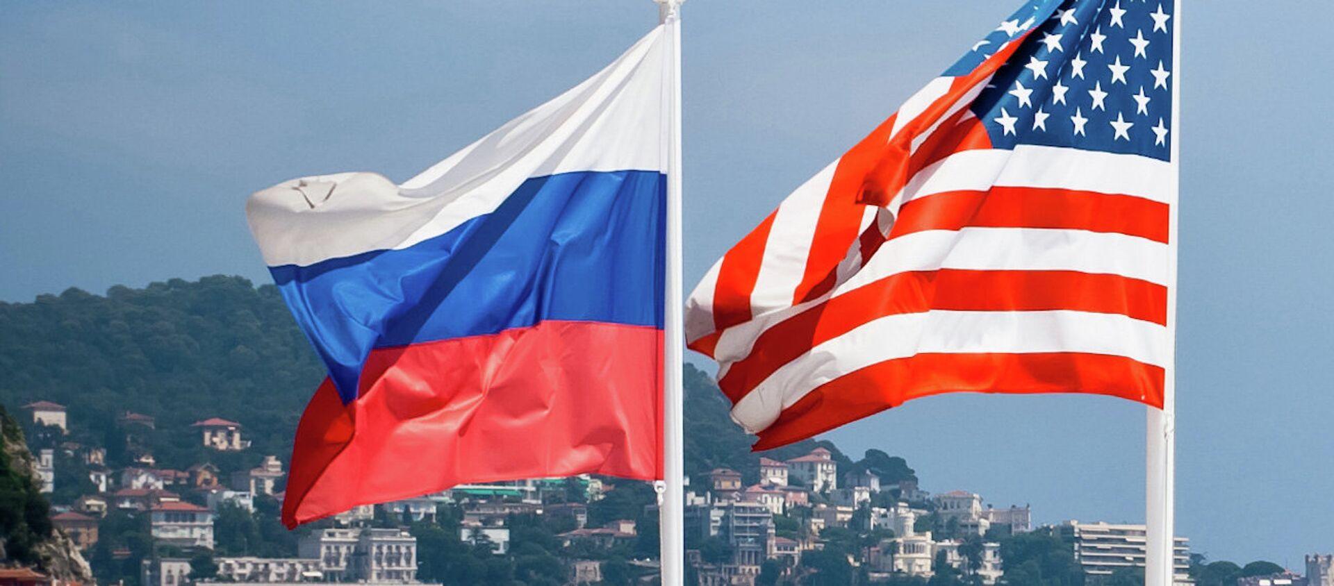 ロシアと米国の旗 - Sputnik 日本, 1920, 15.04.2021