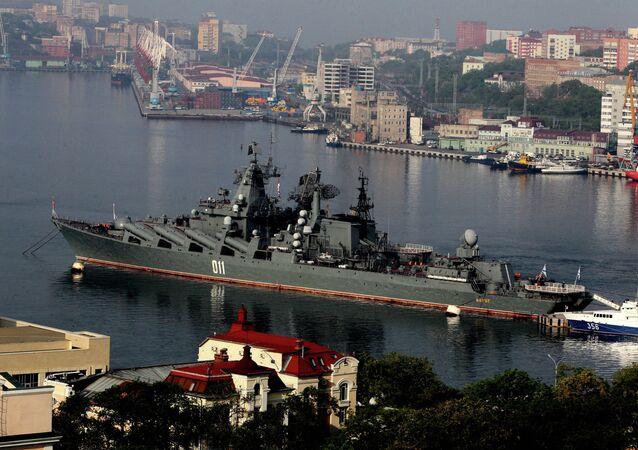 Rendezvous of Pacific Fleet squadron in Vladivostok