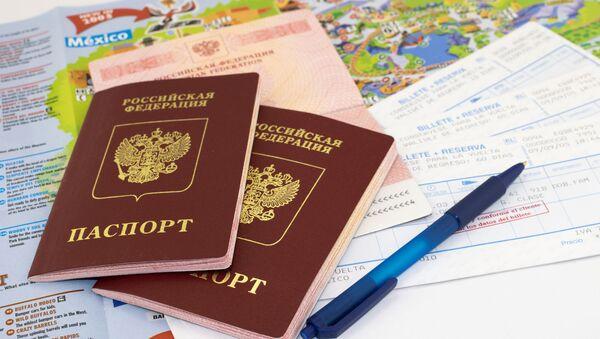 Российские заграничные паспорта на карте мира и билетах  - Sputnik 日本