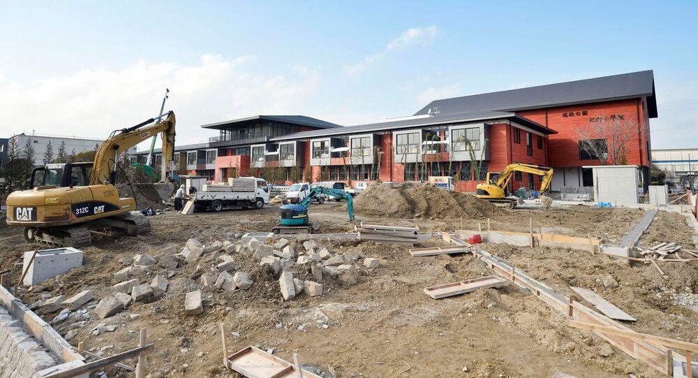 森友学園校舎の建設現場