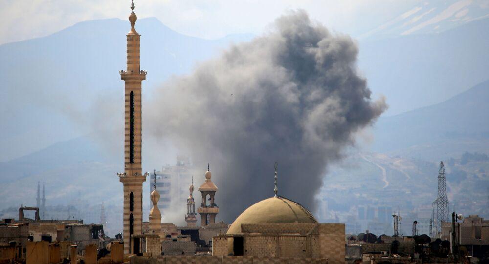米国主導有志連合軍 シリア空爆で民間10人が死亡