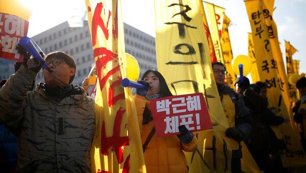 朴前大統領の支持者、死亡 報道官は国民総決起か【動画】 - Sputnik 日本