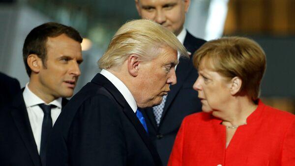 トランプ大統領とメルケル首相 - Sputnik 日本