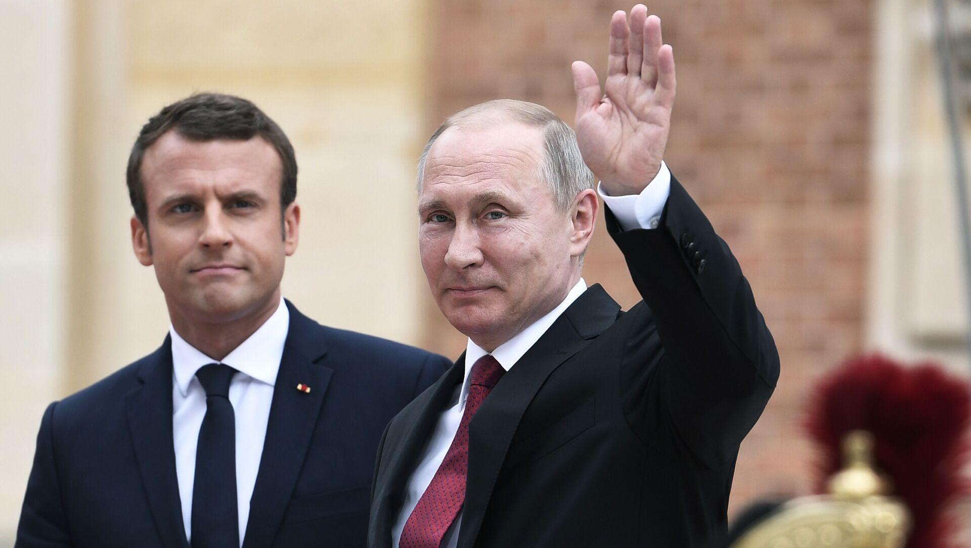 マクロン大統領とプーチン大統領 - Sputnik 日本, 1920, 03.07.2021
