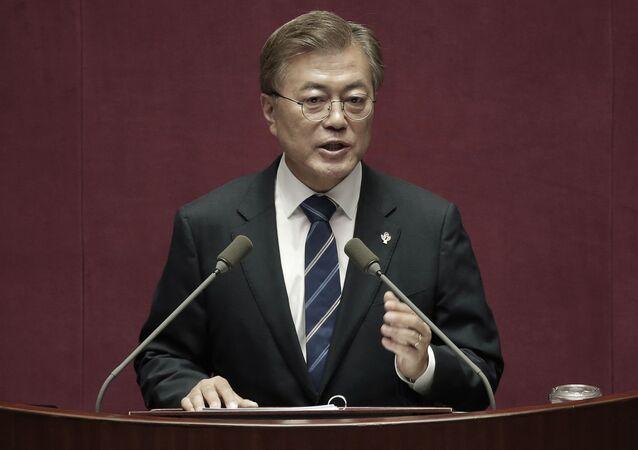 韓国大統領、THAADシステムは中国を照準としていないことを確言
