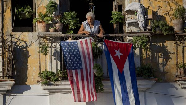 米国とキューバの旗 (アーカイブ写真) - Sputnik 日本