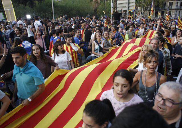 バルセロナでのデモ