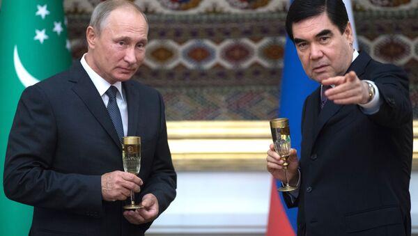 ウラジーミル・プーチン露大統領とトルクメニスタンのベルディ・ムハメドフ大統領 - Sputnik 日本