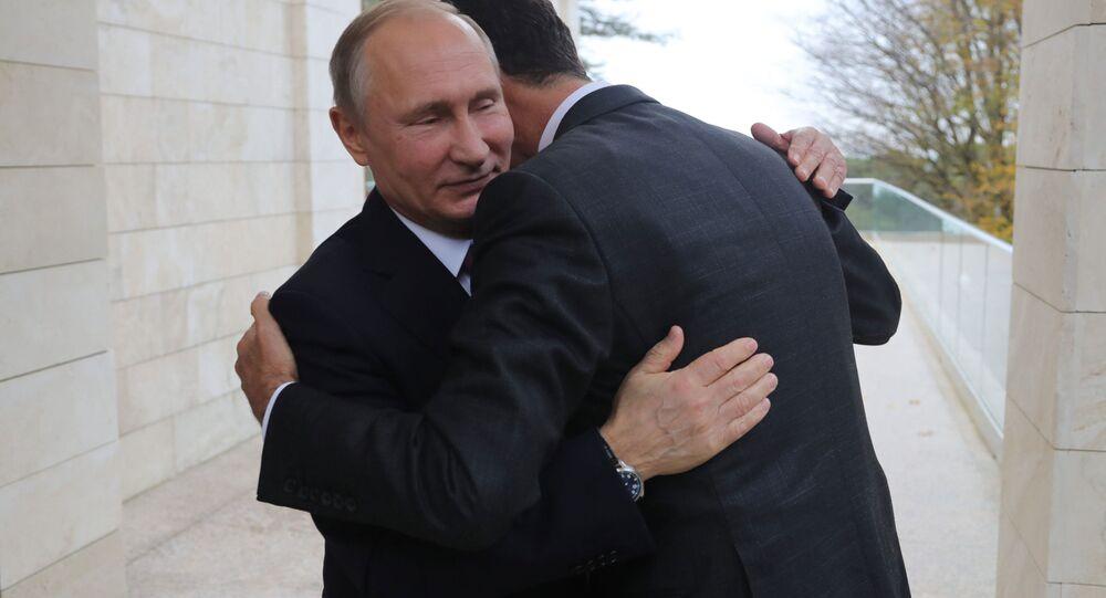 プーチン大統領 シリアのアサド大統領とソチで会談 ペスコフ報道官