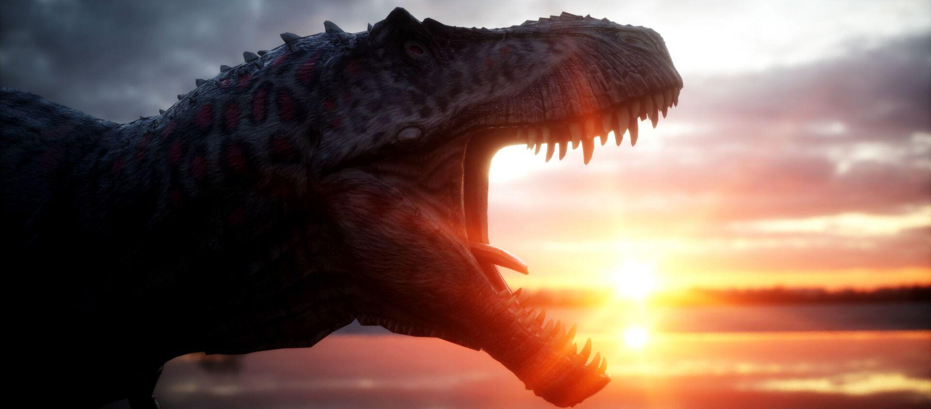 Динозавр на фоне заката - Sputnik 日本, 1920, 19.11.2020