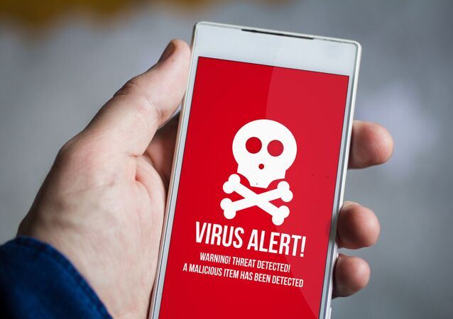 スマートフォンでウイルス