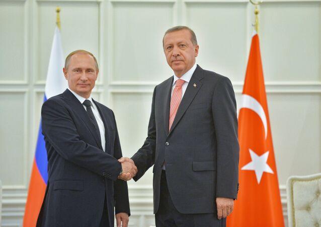 ロシアのプーチン大統領とトルコのエルドアン大統領
