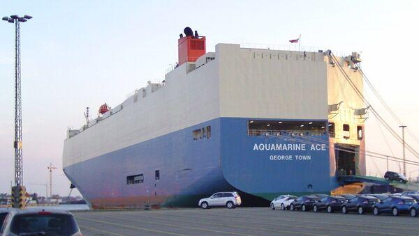 Грузовое судно компании Mitsui O.S.K. Lines - Sputnik 日本