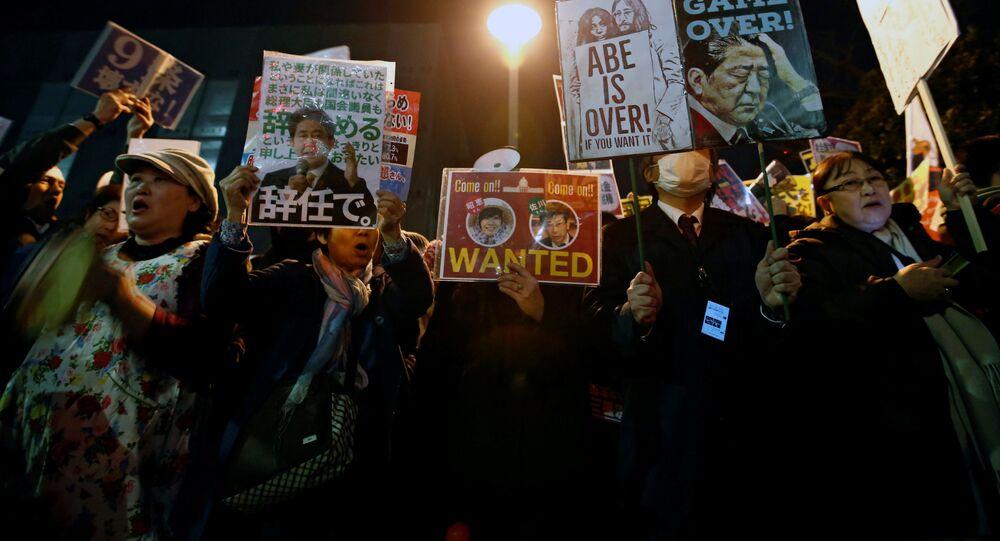 昭恵夫人の証人喚問を、官邸前 市民の抗議3日目