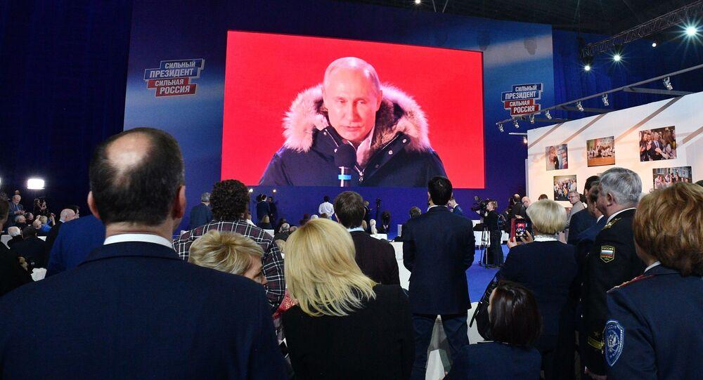プーチン大統領、マネージ広場のイベントに訪れる