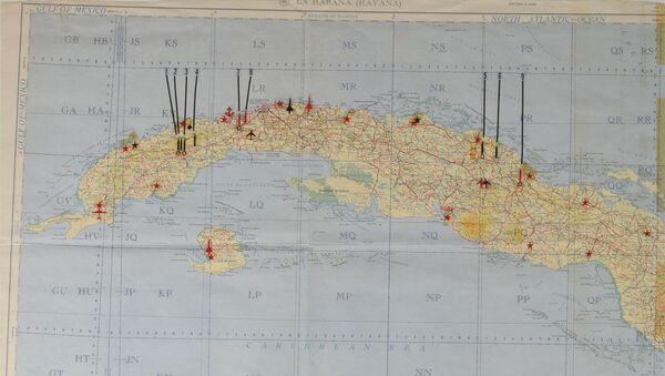 キューバ危機時、   ケネディー米大統領使用の機密地図 キューバ島にあるソ連の軍事施設の位置が示されている  - Sputnik 日本