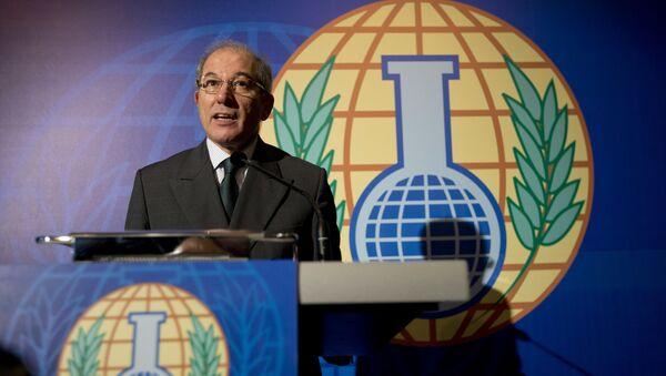 Генеральный директор Организации по запрещению химического оружия Ахмед Узюмджю на пресс-конференции - Sputnik 日本