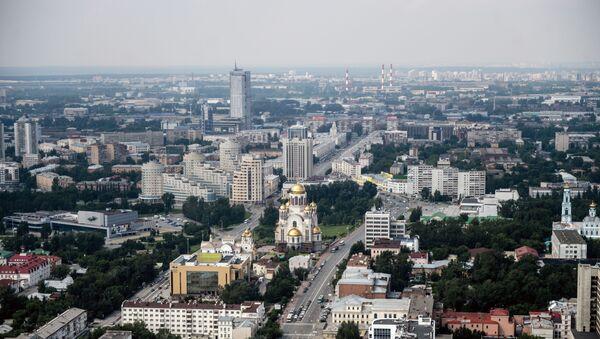 Вид на Екатеринбург со смотровой площадки бизнес-центра Высоцкий - Sputnik 日本