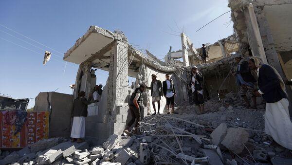 サウジアラビアによる空爆を受けた首都サナア - Sputnik 日本